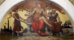 Corrupt Legislation, Mural by Elihu Vedder
