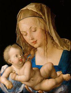 Albrecht Durer,  Maria mit kind, 1512, Kunsthistorisches Museum, Gemäldegalerie