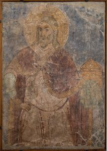 THE PROPHET SAMUEL. The Fresco Painting. Circa 1112 From the Mikhailovskr Monastery of Kiev, 1112