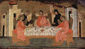 Besuch der drei Engel bei Abraham und deren